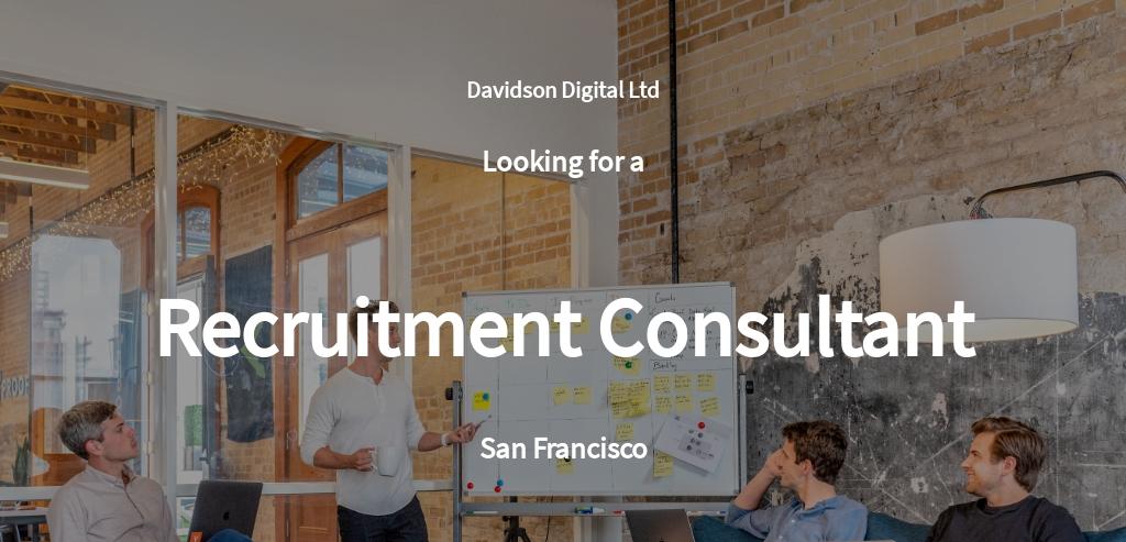 Recruitment Consultant Job Description Template