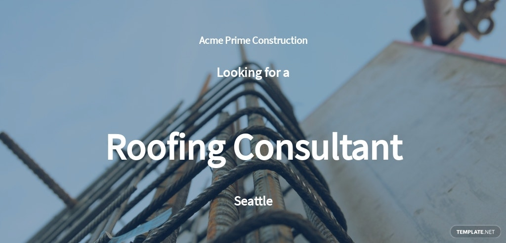 Roofing Consultant Job Ad and Description Template