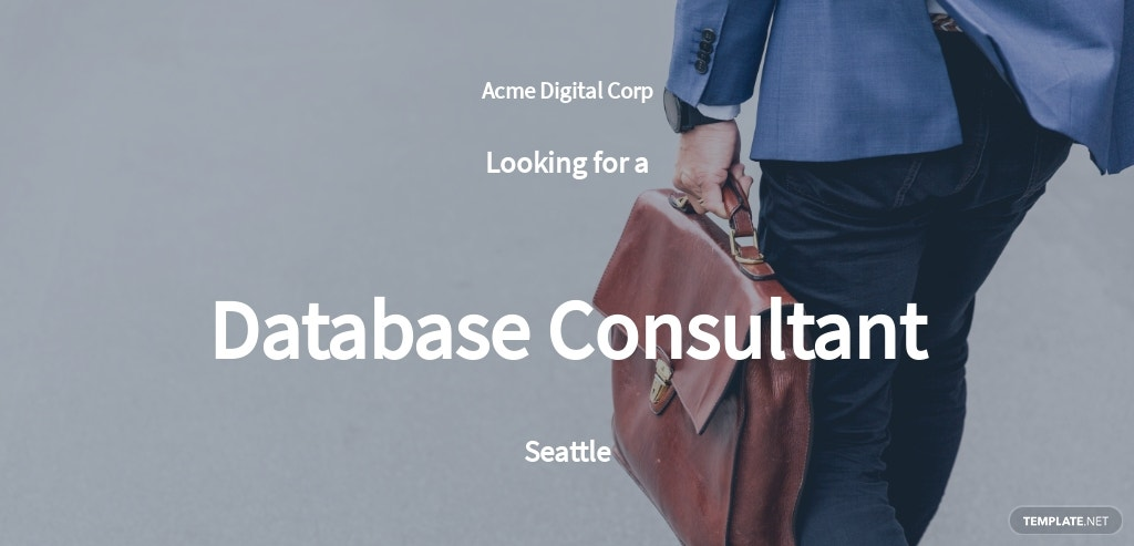 Database Consultant Job Ad and Description Template