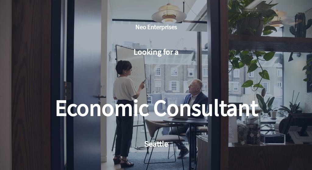 Economic Consultant Job Ad and Description Template