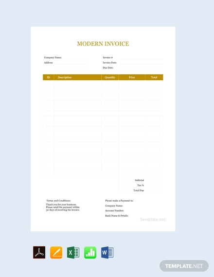 Free Modern Invoice Template