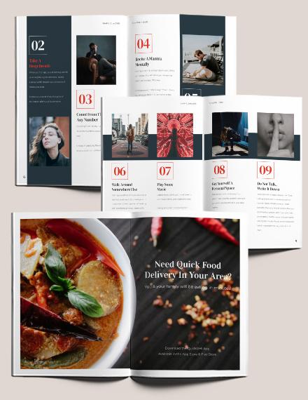 Health Magazine Layout Download