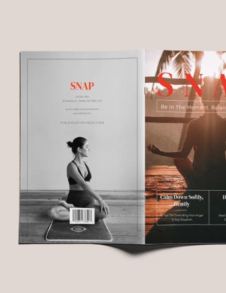 Sample Health Magazine Layout