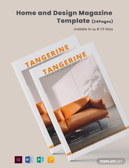 Home and Design Magazine Template