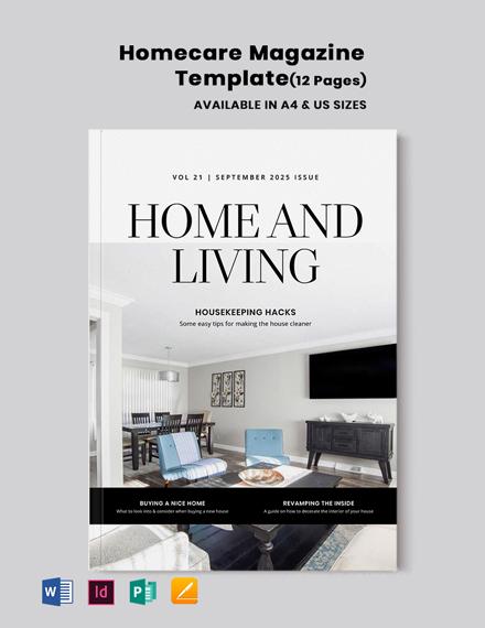 Homecare Magazine Template