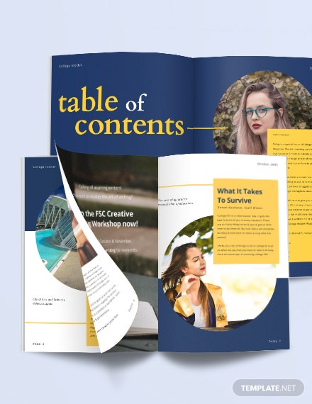 Layout College Magazine Template