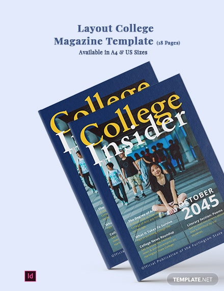 layout college magazine