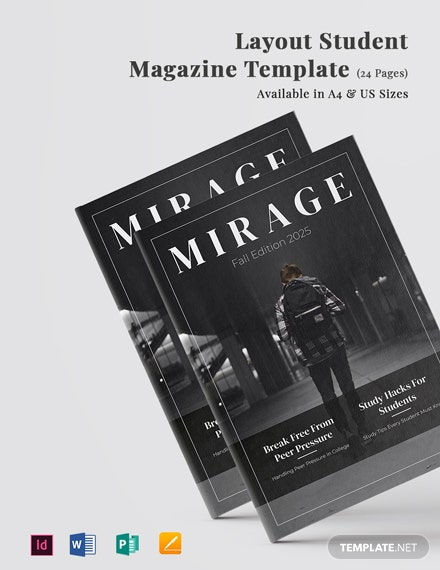 Layout Student Magazine Template