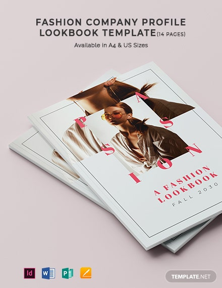 Fashion Company Profile Lookbook Template