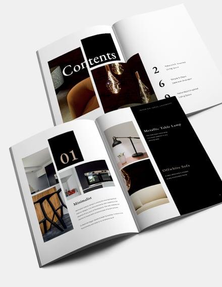 Photography Interior Design Lookbook Template