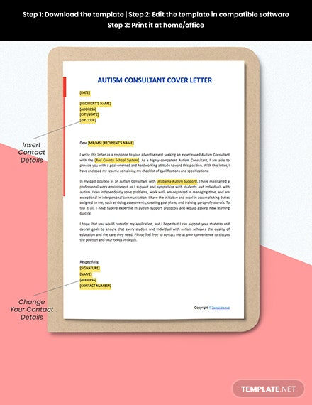 FREE Autism Consultant Cover Letter - Word | Apple Pages ...