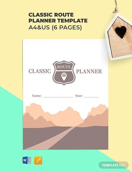 Free Classic Route Planner Template