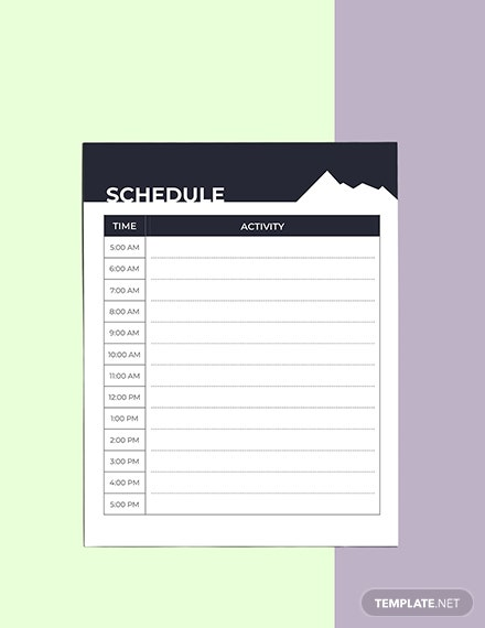 Hiking Route Planner Template Word Apple Pages