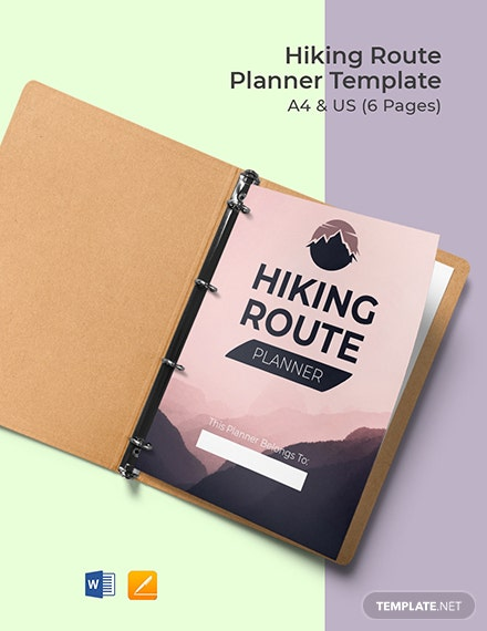 Hiking Route Planner Template