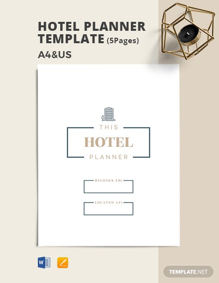 Hotel Planner Template