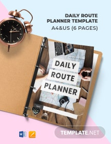 Free Basic Daily Route Planner Template