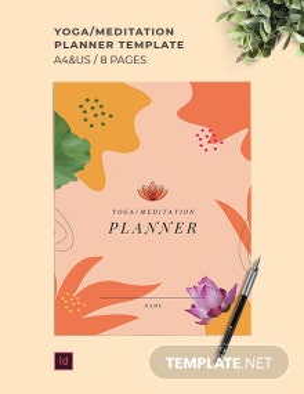 Yoga/Meditation Planner Template