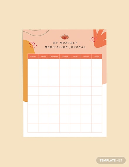 Yoga Meditation Planner Download