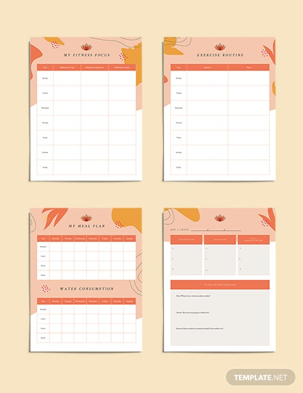 Editable Yoga Meditation Planner