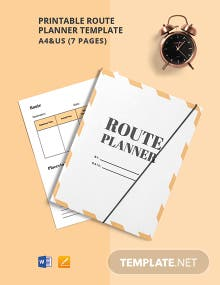 Free Printable Route Planner Template