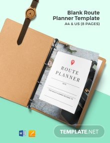 Free Blank Route Planner Template