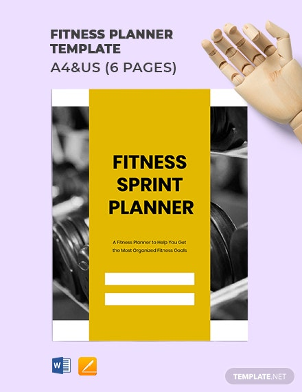 Fitness Planner Template
