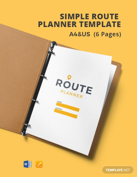 Free Simple Route Planner Template
