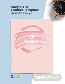 Free Simple Life Planner Template