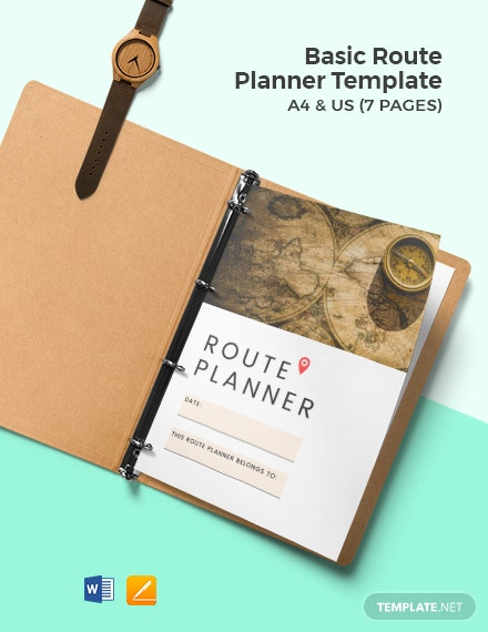 Free Basic Route Planner Template