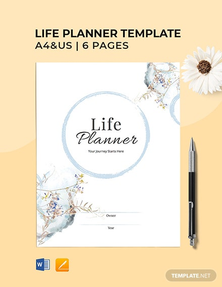 Free Blank Life Planner Template