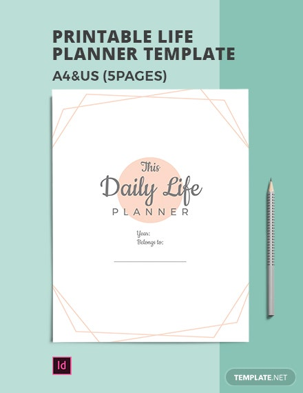 Free Printable Life Planner Template
