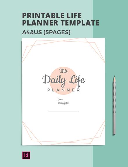 Free Printable Life Planner Template