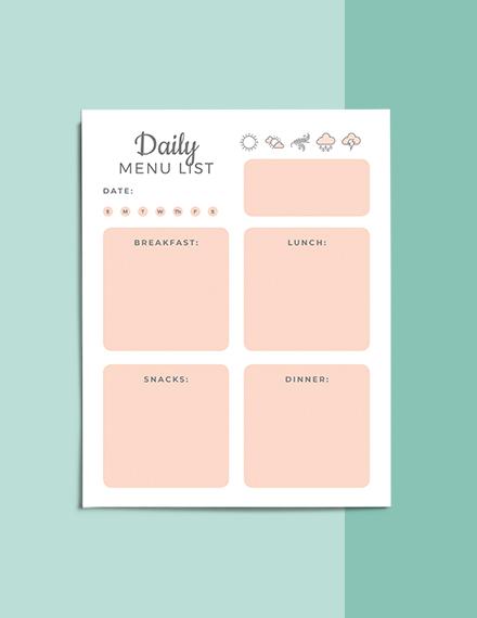 Printable Life Planner Format