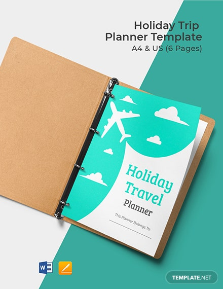 Holiday Trip Planner Template