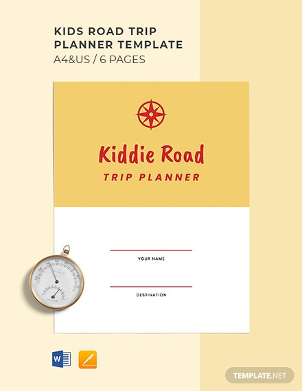 Kids Road Trip Planner Template