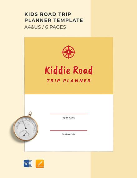 Kids Road Trip Planner Template