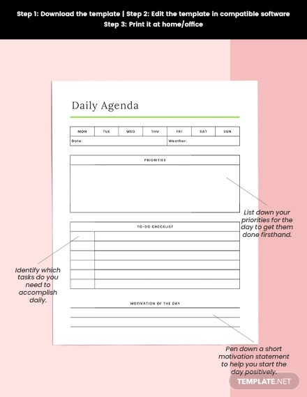Daily Life Planner Printable