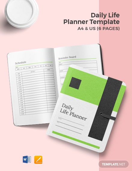 Daily Life Planner Template