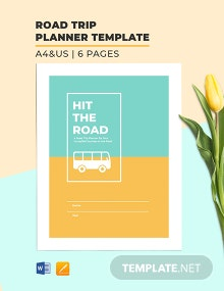 Road Trip Planner Template
