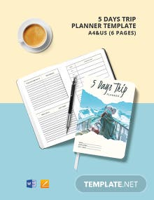 5 Days Trip Planner Template