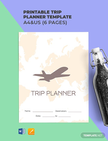 Free Printable Trip Planner Template