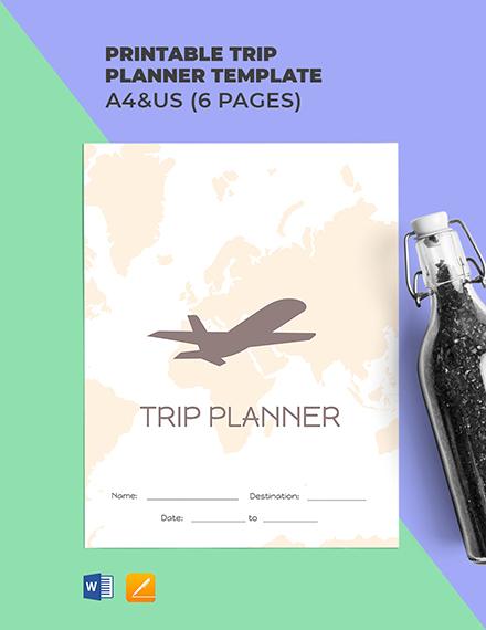 Free Printable Trip Planner Template