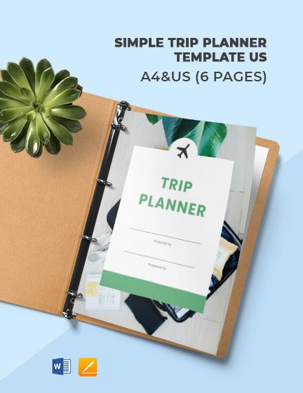 Free Simple Trip Planner Template