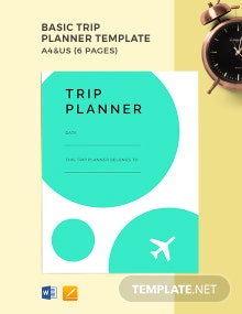 Free Basic Trip Planner Template