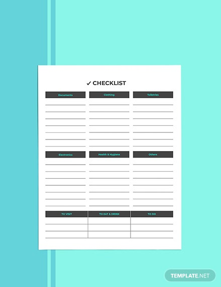 Business Vacation Planner template Format