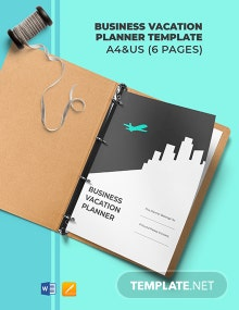 Business Vacation Planner Template
