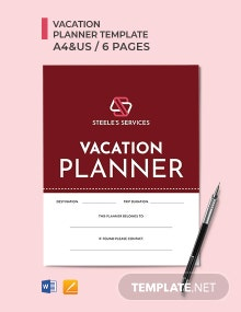 Company Vacation Planner Template
