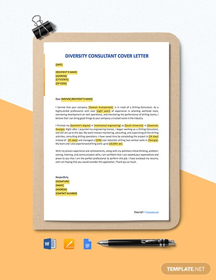 Free Drilling Consultant Cover Letter Template