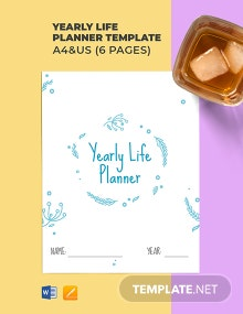 Yearly Life Planner Template
