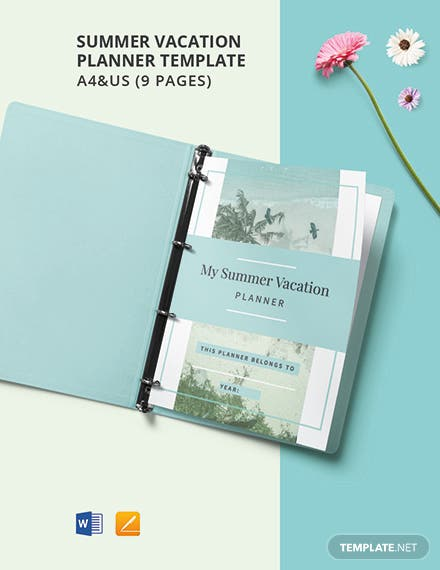 Summer Vacation Planner Template